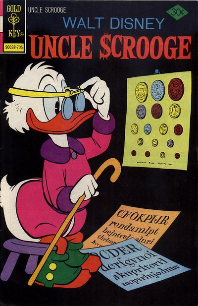 Cover for Uncle Scrooge (Western, 1963 series) #140