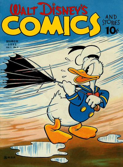 Cover for Walt Disney's Comics and Stories (Dell, 1940 series) #v1#6 [6]