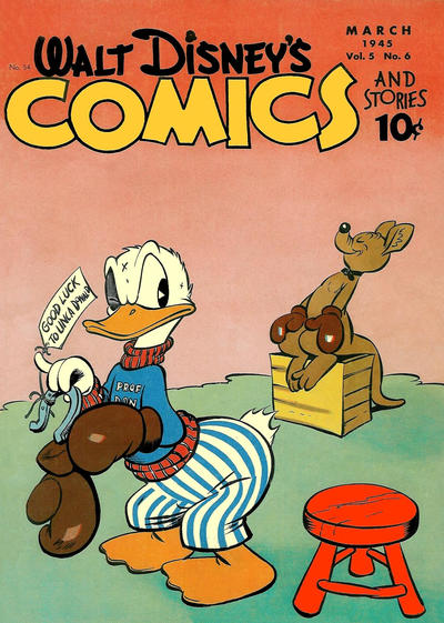 Cover for Walt Disney's Comics and Stories (Dell, 1940 series) #v5#6 (54)