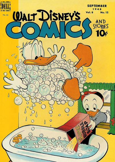 Cover for Walt Disney's Comics and Stories (Dell, 1940 series) #v8#12 (96)