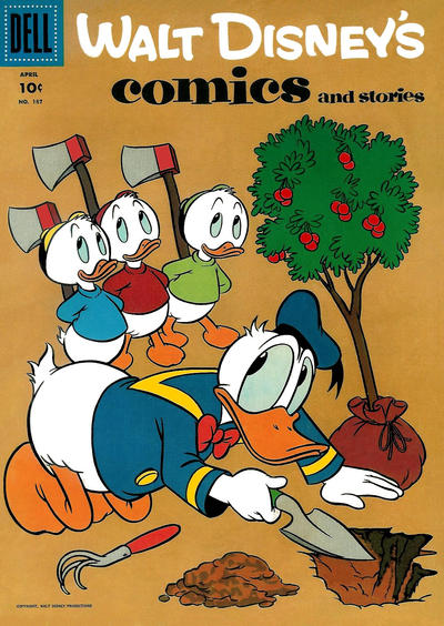 Cover for Walt Disney's Comics and Stories (Dell, 1940 series) #v16#7 (187)
