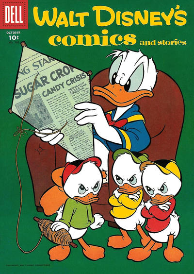 Cover for Walt Disney's Comics and Stories (Dell, 1940 series) #v17#1 (193)