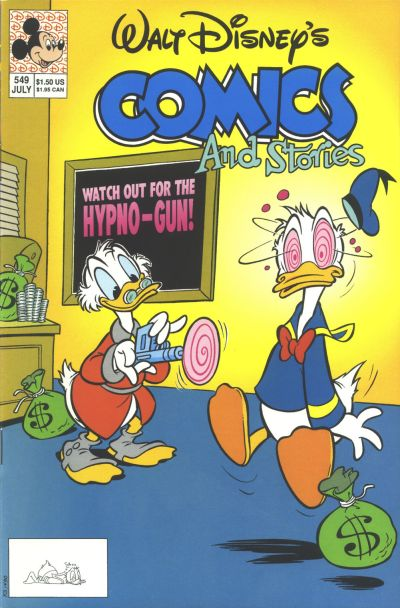 Cover for Walt Disney's Comics and Stories (Disney, 1990 series) #549