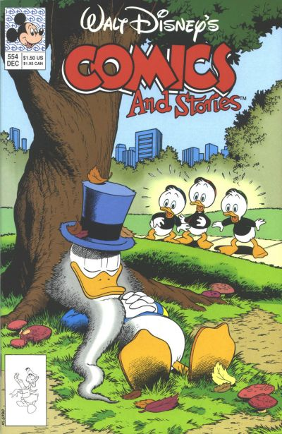 Cover for Walt Disney's Comics and Stories (Disney, 1990 series) #554