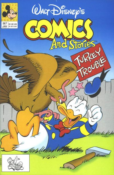 Cover for Walt Disney's Comics and Stories (Disney, 1990 series) #567