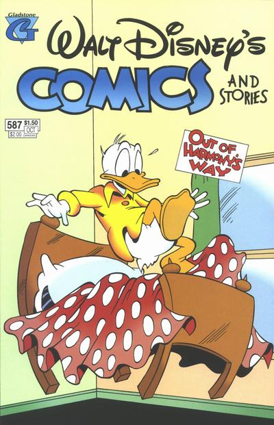 Cover for Walt Disney's Comics and Stories (Gladstone, 1993 series) #587