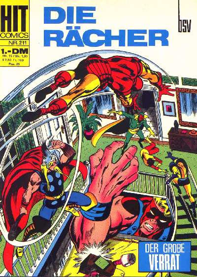 Cover for Hit Comics Die Rcher (1971 series) #211
