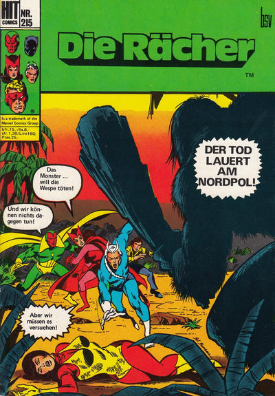 Cover for Hit Comics Die Rächer (BSV - Williams, 1971 series) #215