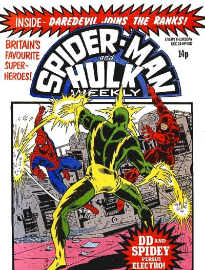 Cover for Spider-Man and Hulk Weekly (1980 series) #407