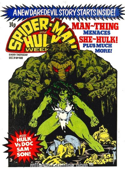 Cover for Spider-Man and Hulk Weekly (1980 series) #408
