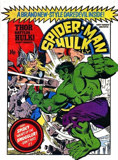 Cover for Spider-Man and Hulk Weekly (Marvel UK, 1980 series) #411