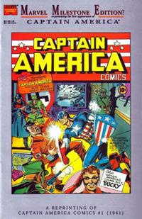 Cover Thumbnail for Marvel Milestone Edition: Captain America Comics #1 (Marvel, 1995 series)