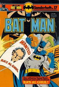 Cover Thumbnail for Batman Sonderheft (Egmont Ehapa, 1976 series) #17