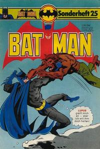 Cover Thumbnail for Batman Sonderheft (Egmont Ehapa, 1976 series) #25