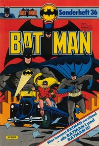 Cover Thumbnail for Batman Sonderheft (Egmont Ehapa, 1976 series) #36