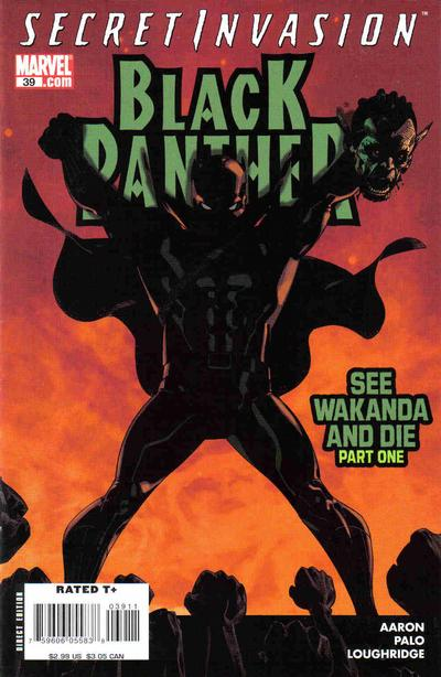Cover for Black Panther (2005 series) #39 [Second Printing]