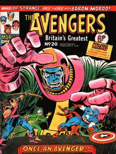Cover for The Avengers (Marvel UK, 1973 series) #20