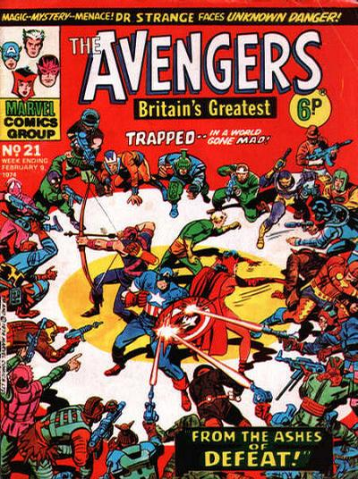Cover for The Avengers (Marvel UK, 1973 series) #21