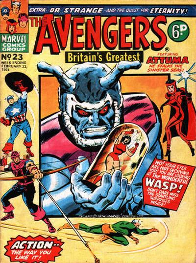 Cover for The Avengers (Marvel UK, 1973 series) #23