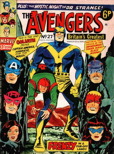 Cover for The Avengers (Marvel UK, 1973 series) #27