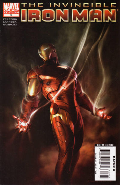 Cover for Invincible Iron Man (2008 series) #5 [Limited Monkey Variant Cover]
