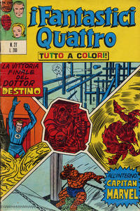 Cover Thumbnail for I Fantastici Quattro (Editoriale Corno, 1971 series) #27