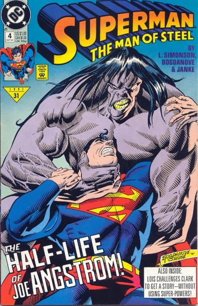 Cover for Superman: The Man of Steel (1991 series) #4