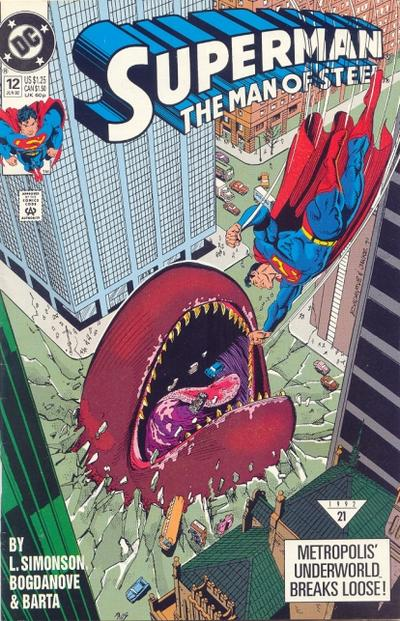 Cover for Superman: The Man of Steel (1991 series) #12