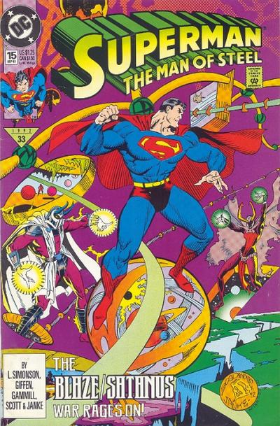 Cover for Superman: The Man of Steel (DC, 1991 series) #15