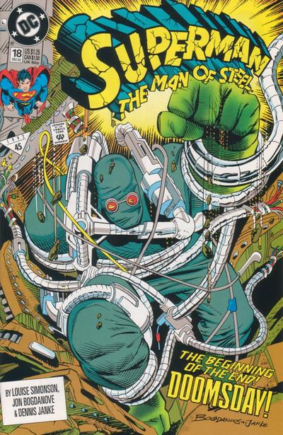 Cover for Superman: The Man of Steel (1991 series) #18 [Newsstand Edition]