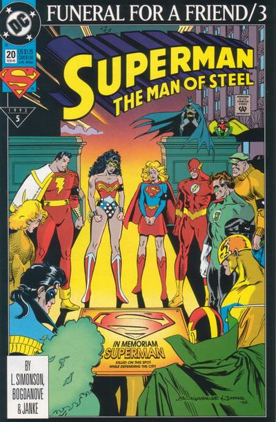 Cover for Superman: The Man of Steel (1991 series) #20
