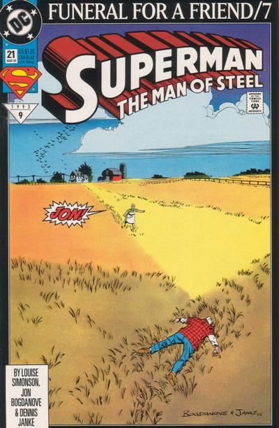 Cover for Superman: The Man of Steel (1991 series) #21
