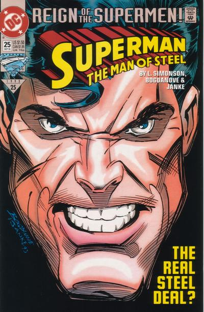 Cover for Superman: The Man of Steel (DC, 1991 series) #25 [Direct Edition]
