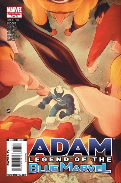 Cover for Adam: Legend of the Blue Marvel (2009 series) #5