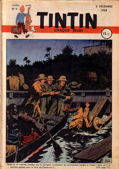 Cover for Journal de Tintin (Dargaud éditions, 1948 series) #6