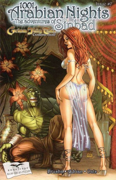 Cover for 1001 Arabian Nights: The Adventures of Sinbad (Zenescope Entertainment, 2008 series) #7