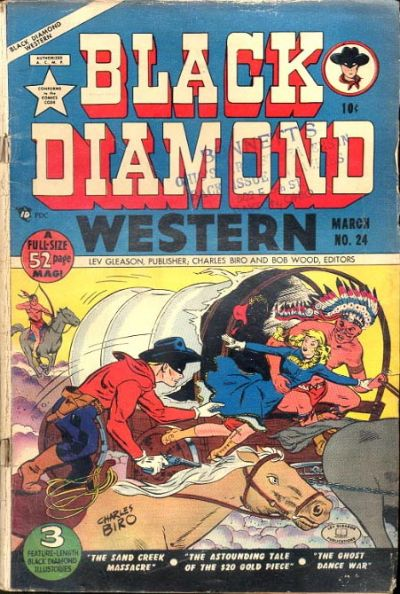 Cover for Black Diamond Western (1949 series) #24