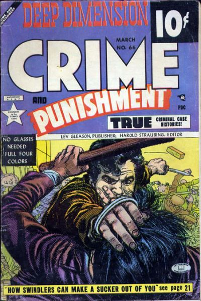 Cover for Crime and Punishment (Lev Gleason, 1948 series) #66