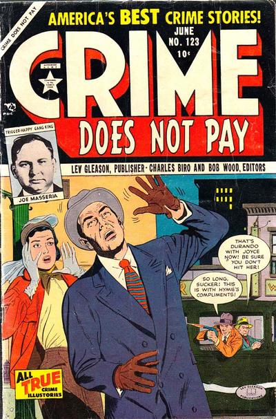 Cover for Crime Does Not Pay (Lev Gleason, 1942 series) #123