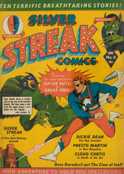 Cover for Silver Streak Comics (Lev Gleason, 1939 series) #11