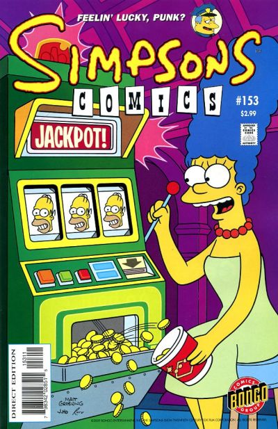 Cover for Simpsons Comics (Bongo, 1993 series) #153