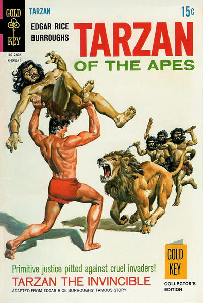 Cover for Edgar Rice Burroughs' Tarzan of the Apes (Western, 1962 series) #182