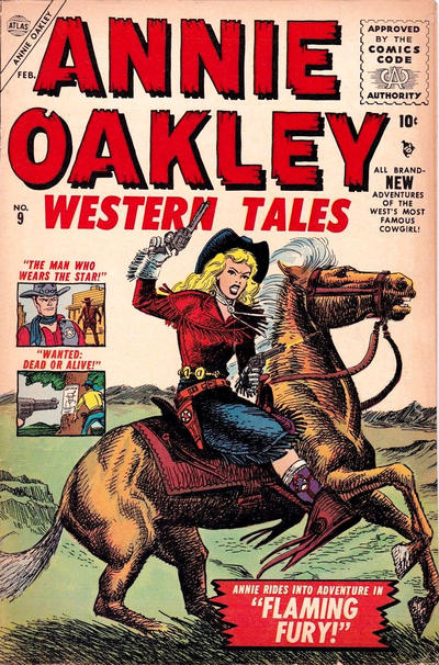 Cover for Annie Oakley (Marvel, 1955 series) #9