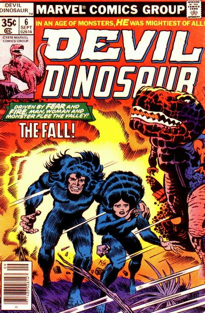 Cover for Devil Dinosaur (Marvel, 1978 series) #6 [non-newsstand bagged]
