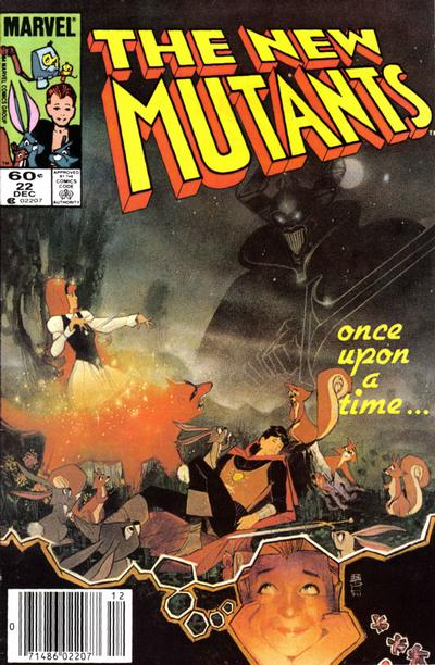 Cover for The New Mutants (Marvel, 1983 series) #22 [Direct Edition]