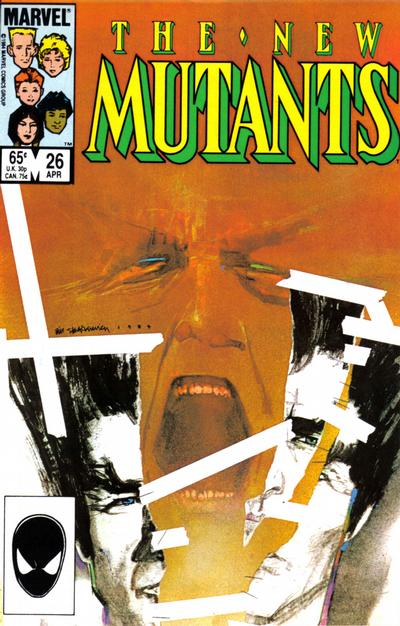 Cover for The New Mutants (Marvel, 1983 series) #26