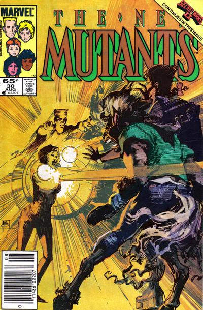 Cover for The New Mutants (Marvel, 1983 series) #30 [newsstand]