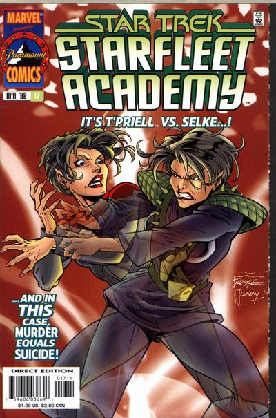 Cover for Star Trek: Starfleet Academy (Marvel, 1996 series) #17