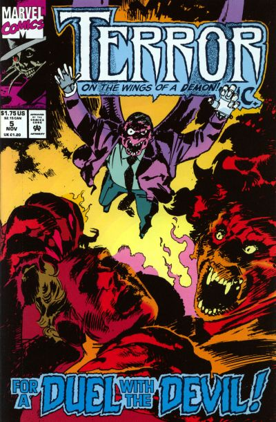 Cover for Terror Inc. (Marvel, 1992 series) #5