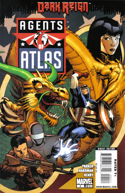 Cover for Agents of Atlas (Marvel, 2009 series) #4 [Variant Edition]